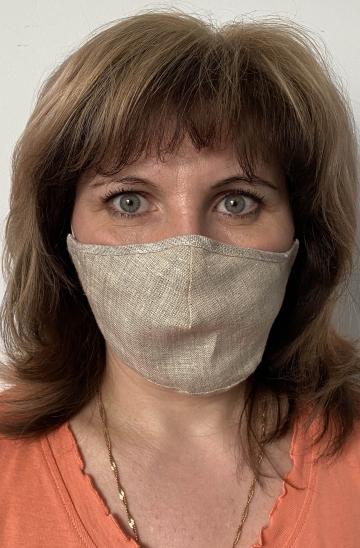 Тканевая защитная маска для лица - Натуральный лен