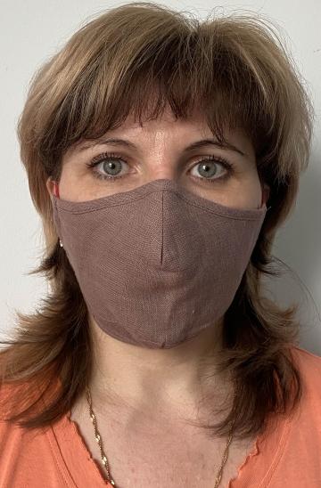 Плотная тканевая маска - Какао лен