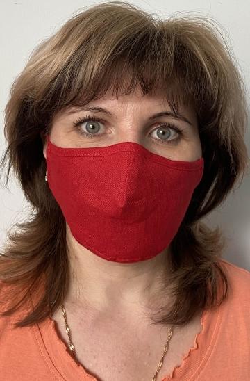 Тканевая маска - красный лен
